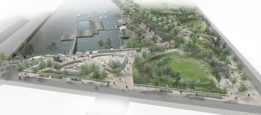 Visionsbild över Jubileumsparken.