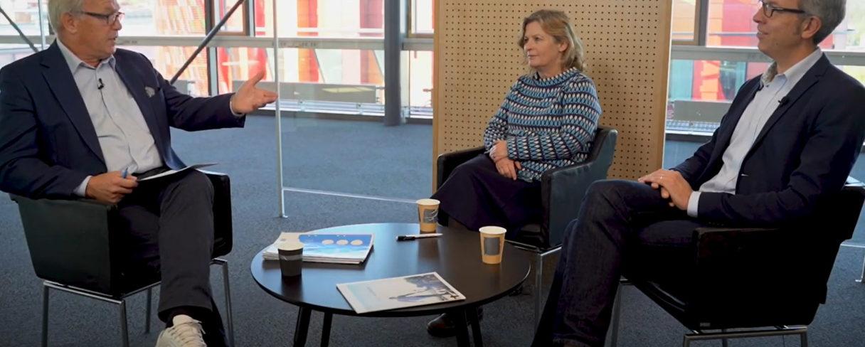 Lennart Persson pratar om Nordens största stadsutvecklingsprojekt med Ulrika Palmblad från Älvstranden Utveckling och Jörgen Hermansson från stadsledningskontoret.