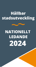 Hållbar stadsutveckling – Nationellt ledande 2024