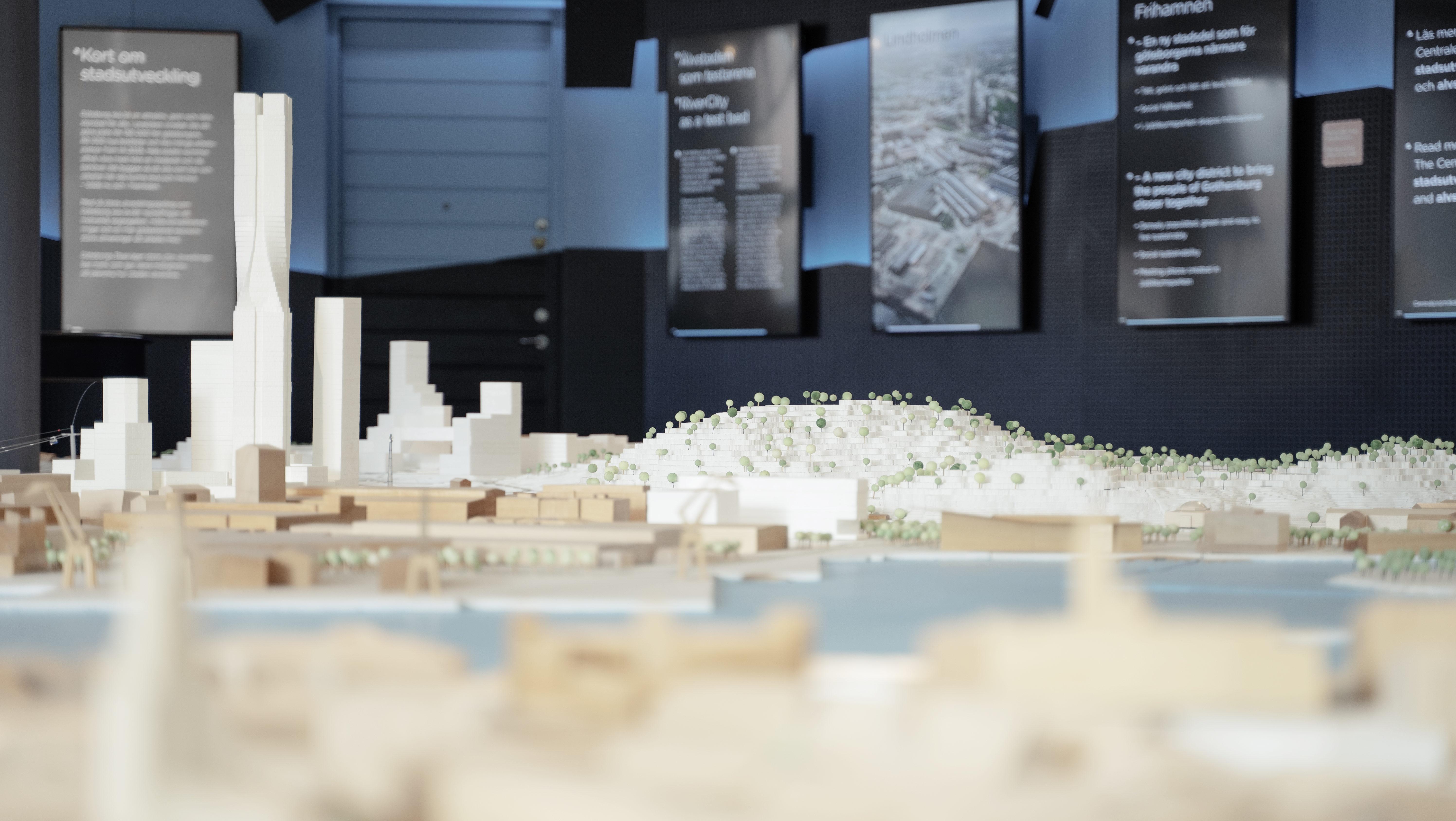I Älvrummet kan du bland annat se en modell över hur framtidens centrala Göteborg kan komma att se ut.