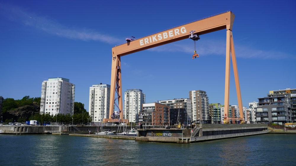 Bockkranen är ett känt landmärke på Eriksberg.