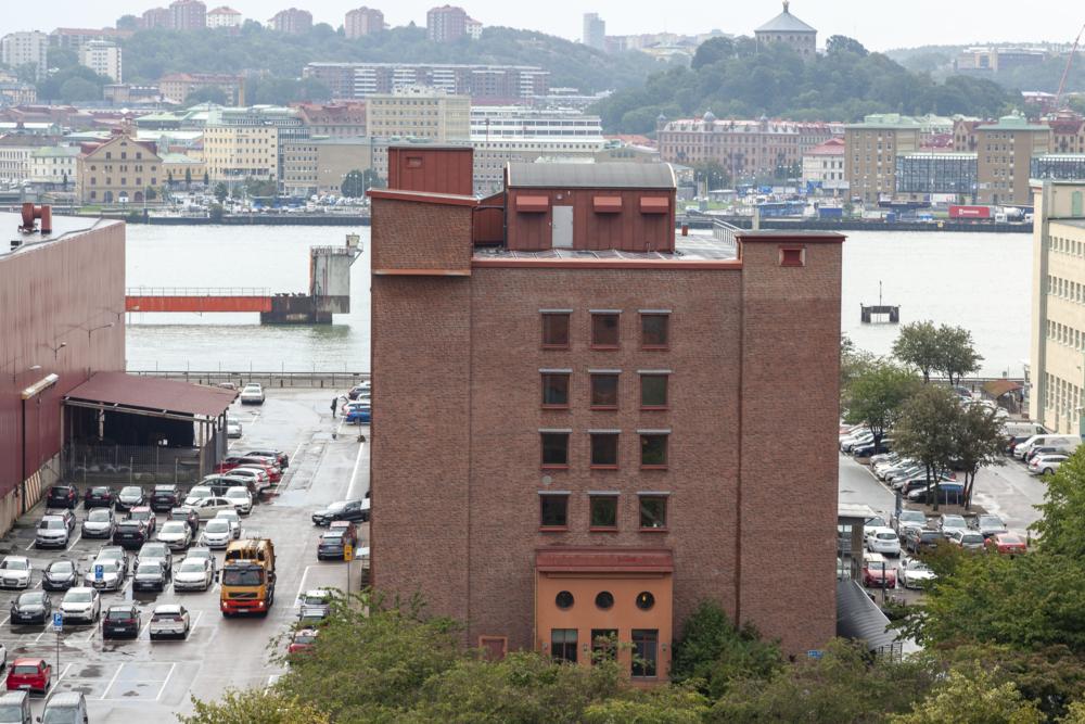 Den gamla varvsfastigheten Förrådet på Lindholmen.