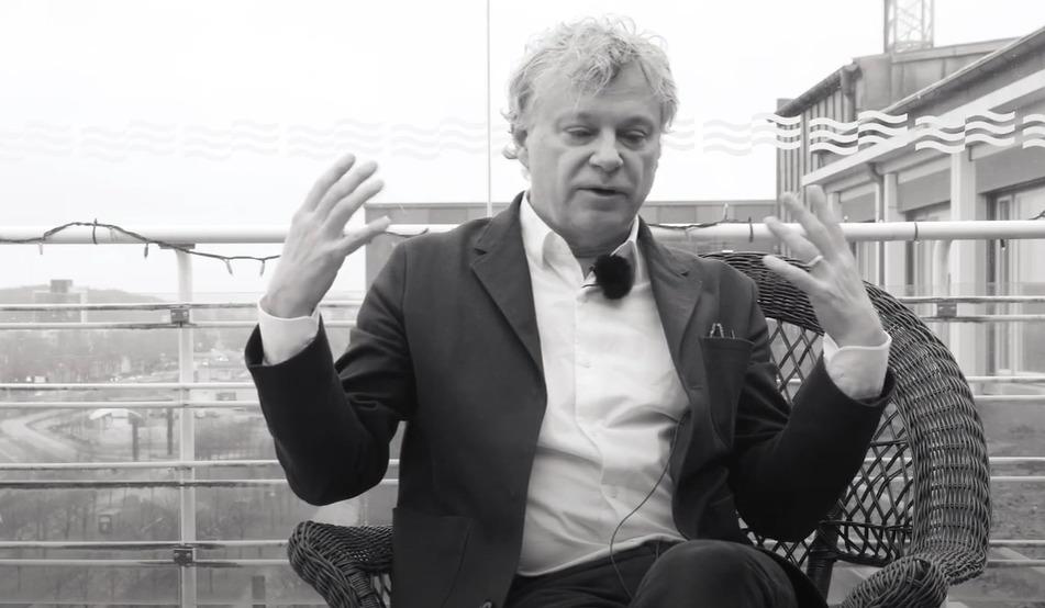 Bild från intervju med Lars Marcus.