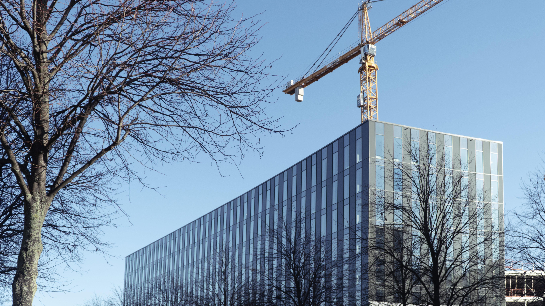 Byggandet av Geelys nya inovationscenter på Lindholmen.