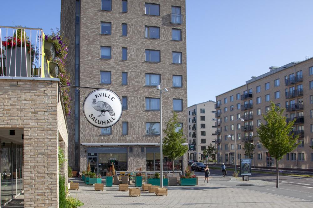 Kville Saluhall i nya stadsdelen Kvillebäcken på Hisingen.