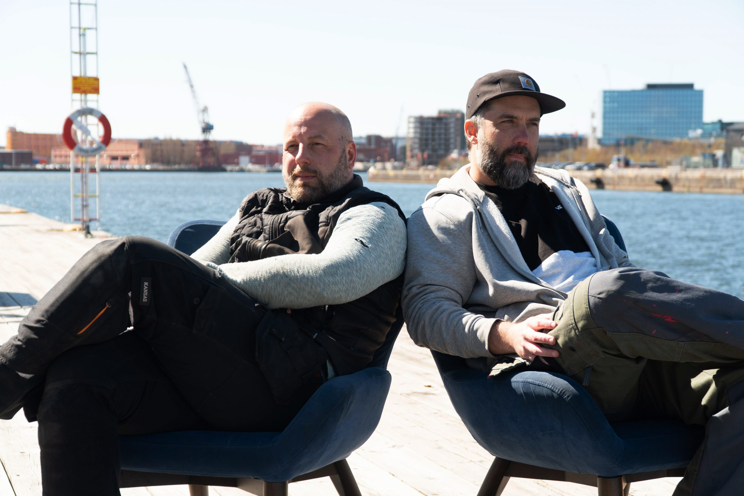 Johan och Johan driver Café Fluss